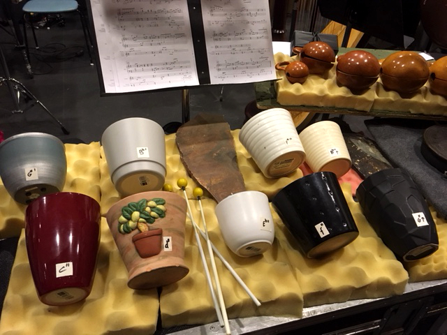 Percussion setup for Ting and Twine.